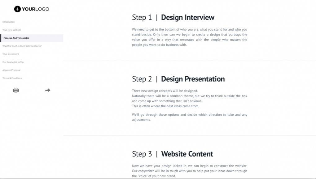 Website Design Proposal Templates