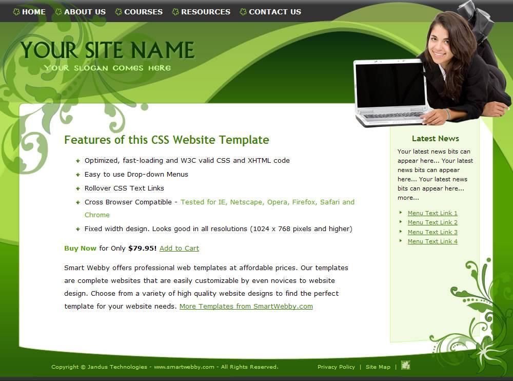 Website Design Templates Dreamweaver Free