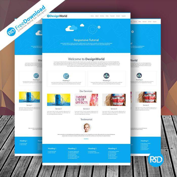 Website Mockup Template Free