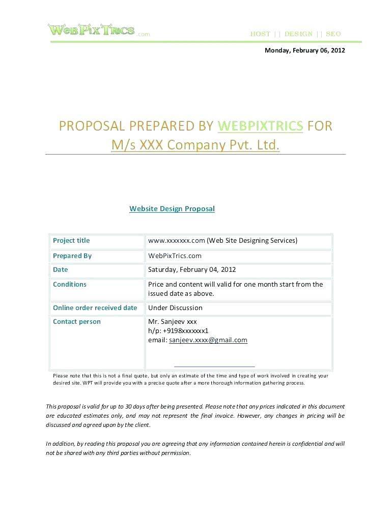 Website Proposal Document