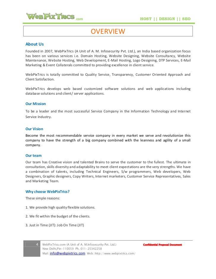 Website Proposal Sample