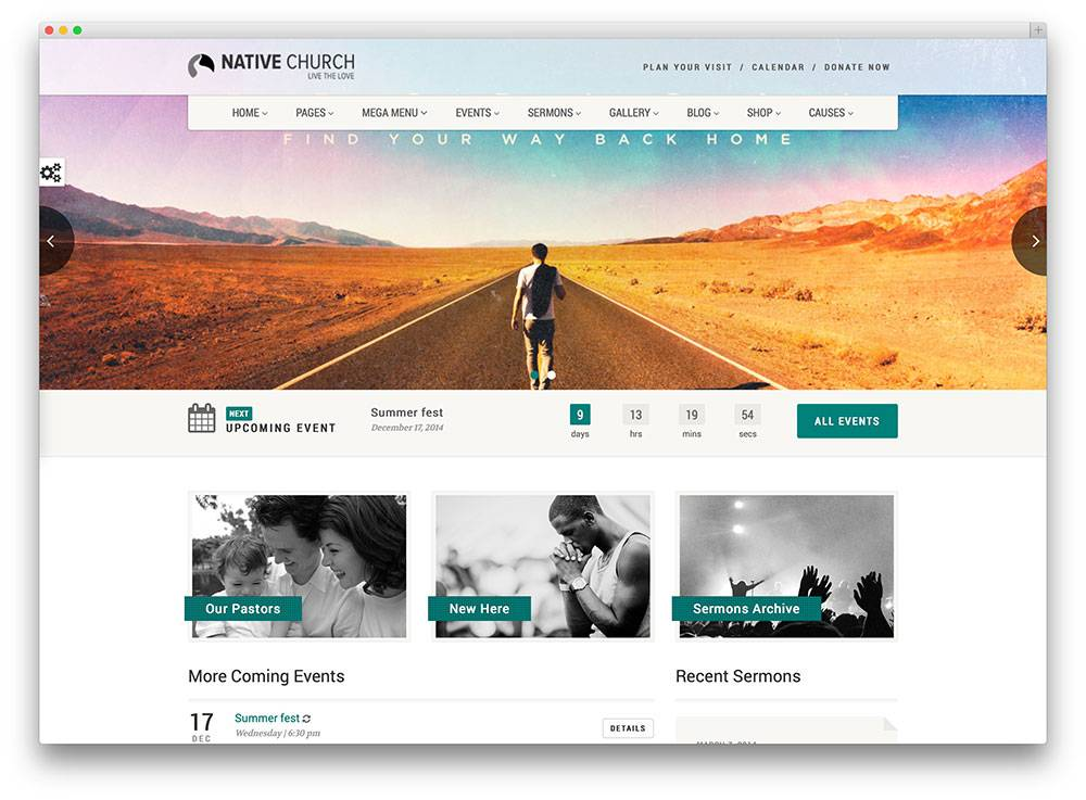 Website Templates For Churches