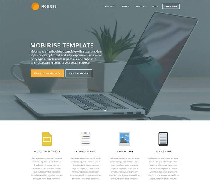 Website Templates Html5 Responsive Free