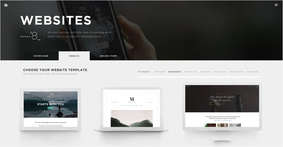 Website Templates Like Squarespace