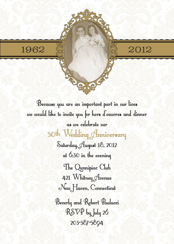 Wedding Anniversary Invitation Templates Microsoft Word
