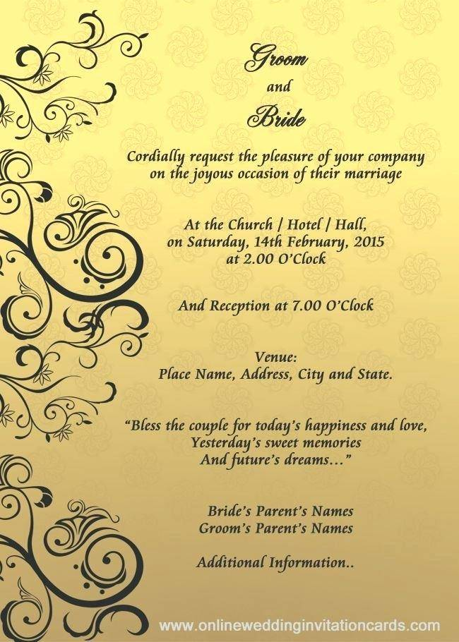 Wedding Announcement Sample Text