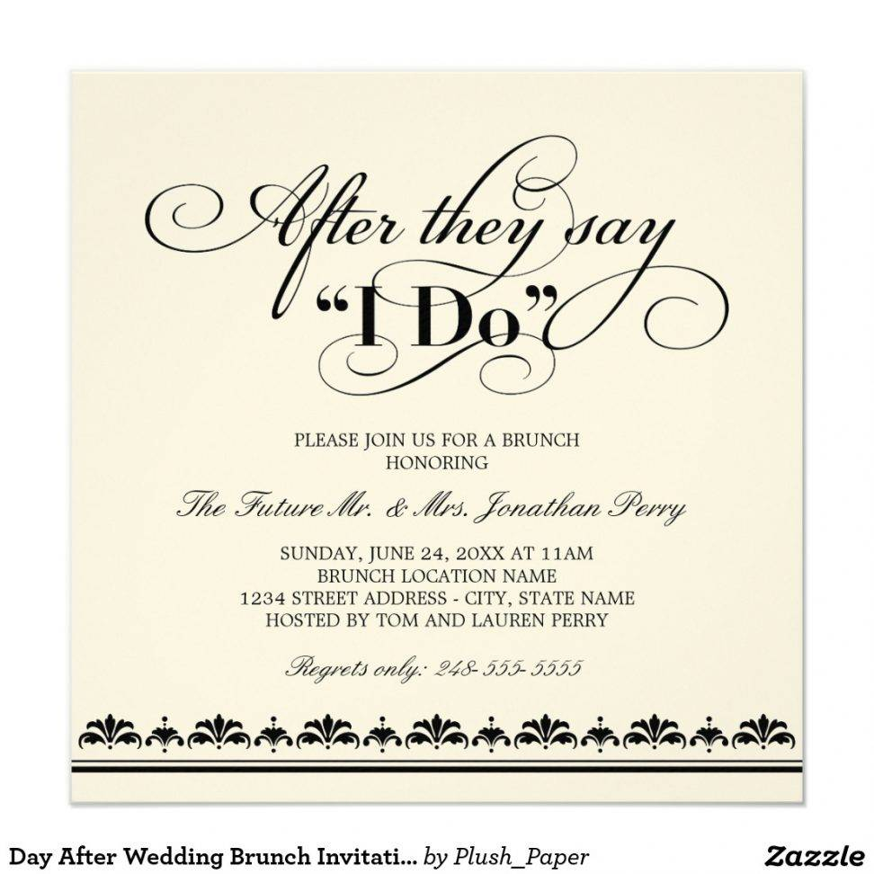Wedding Brunch Invitation Templates