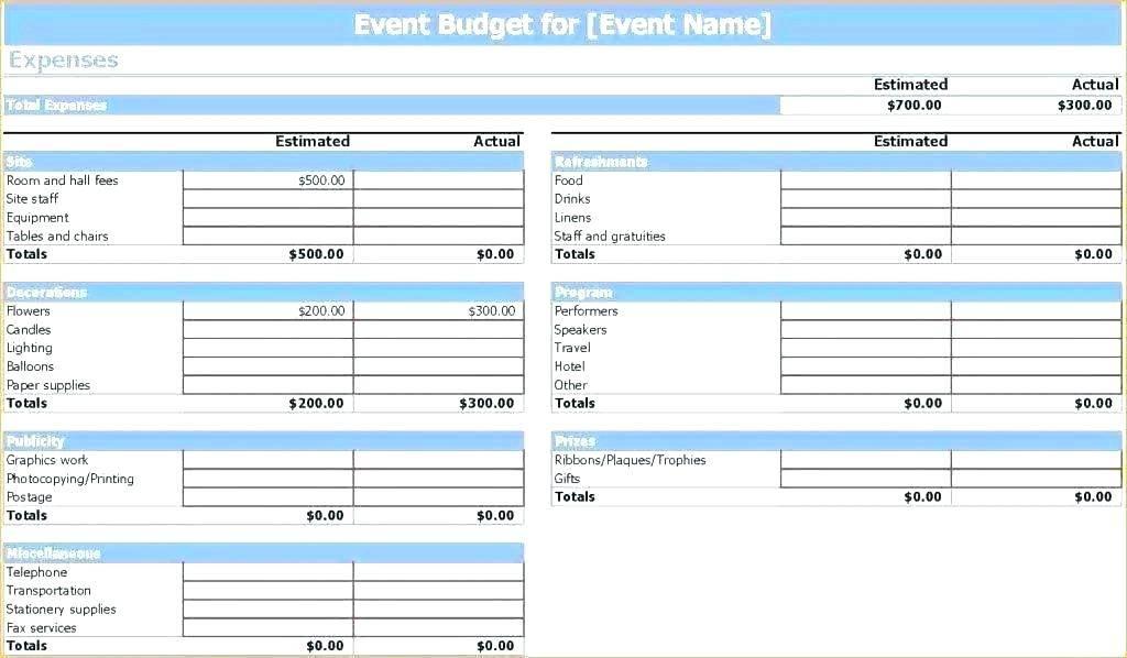 Wedding Budget Template Nz Excel