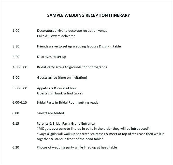 Wedding Bulletins Templates