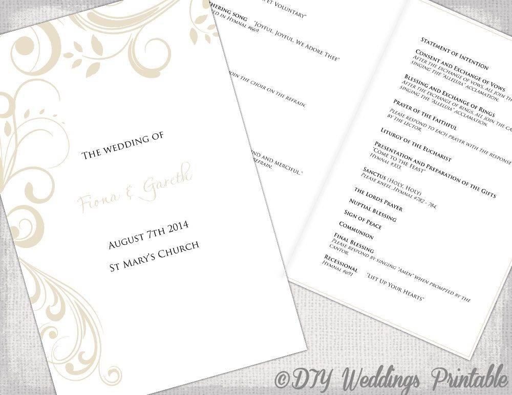 Wedding Ceremony Booklet Template