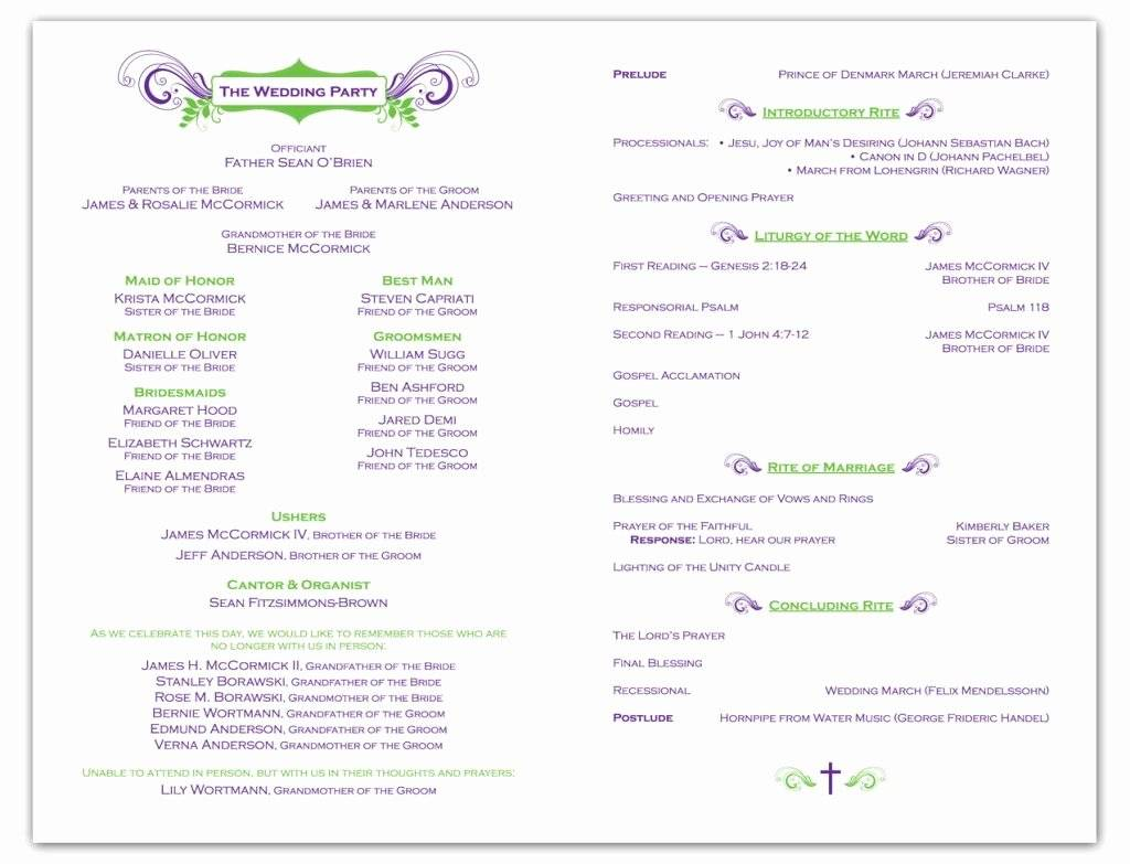 Wedding Ceremony Program Sample Philippines