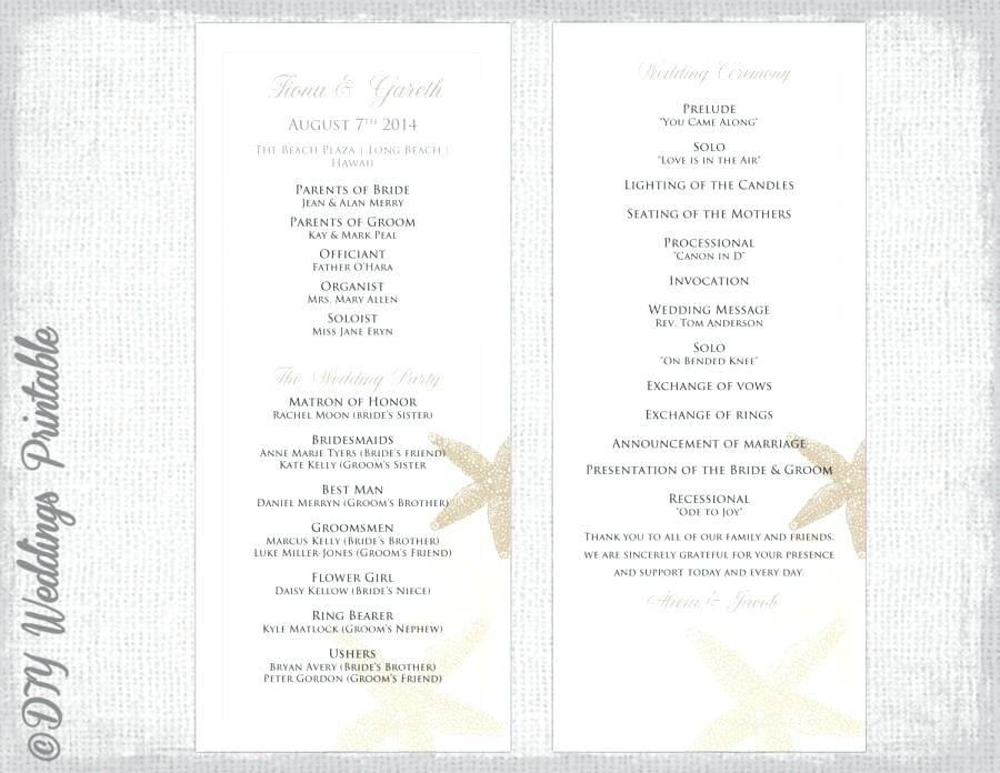 Wedding Ceremony Programs Templates Word