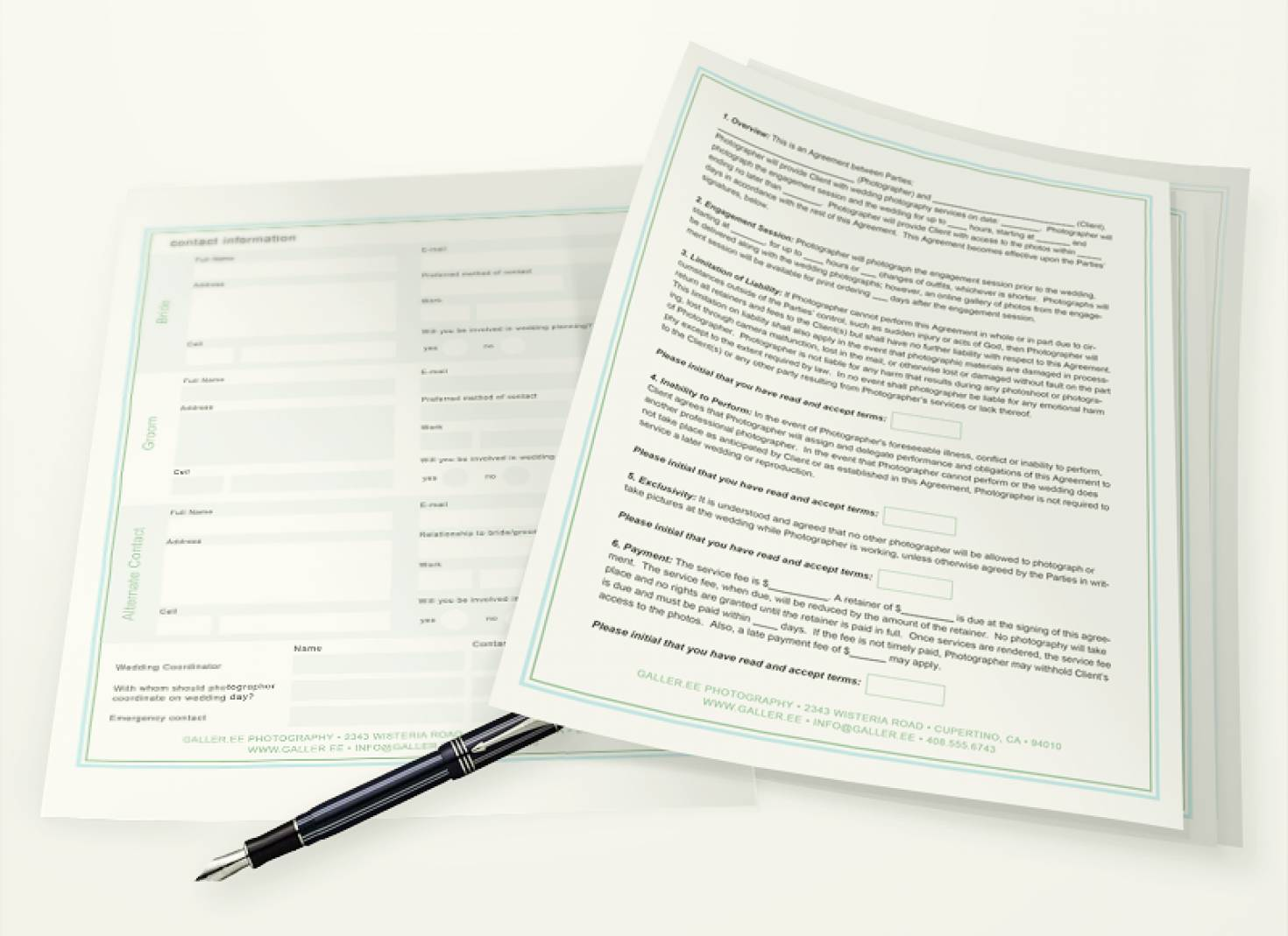 Wedding Contract Templates For Photographers