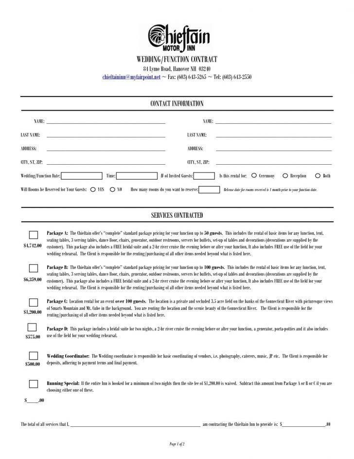 Wedding Coordinator Contract Template Free