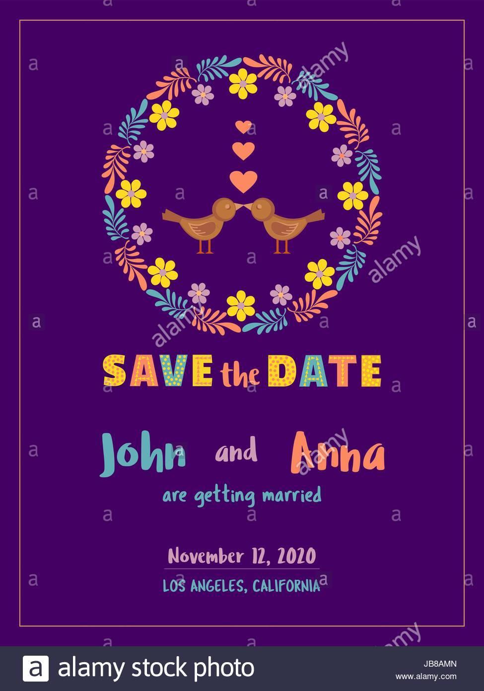 Wedding Date Announcement Template