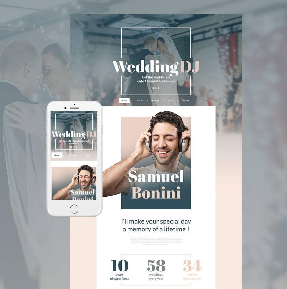 Wedding Dj Website Template