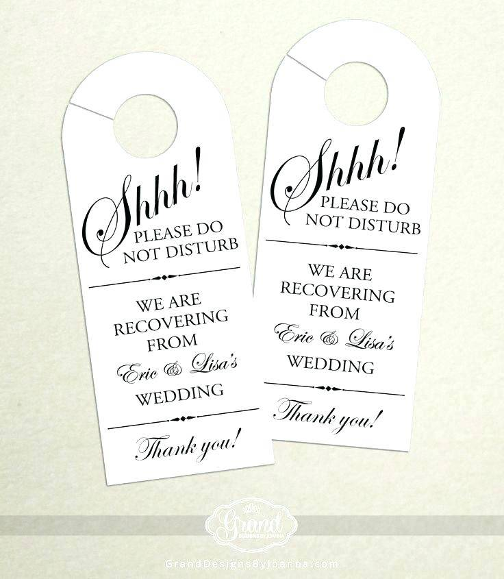 Wedding Door Hanger Template Free