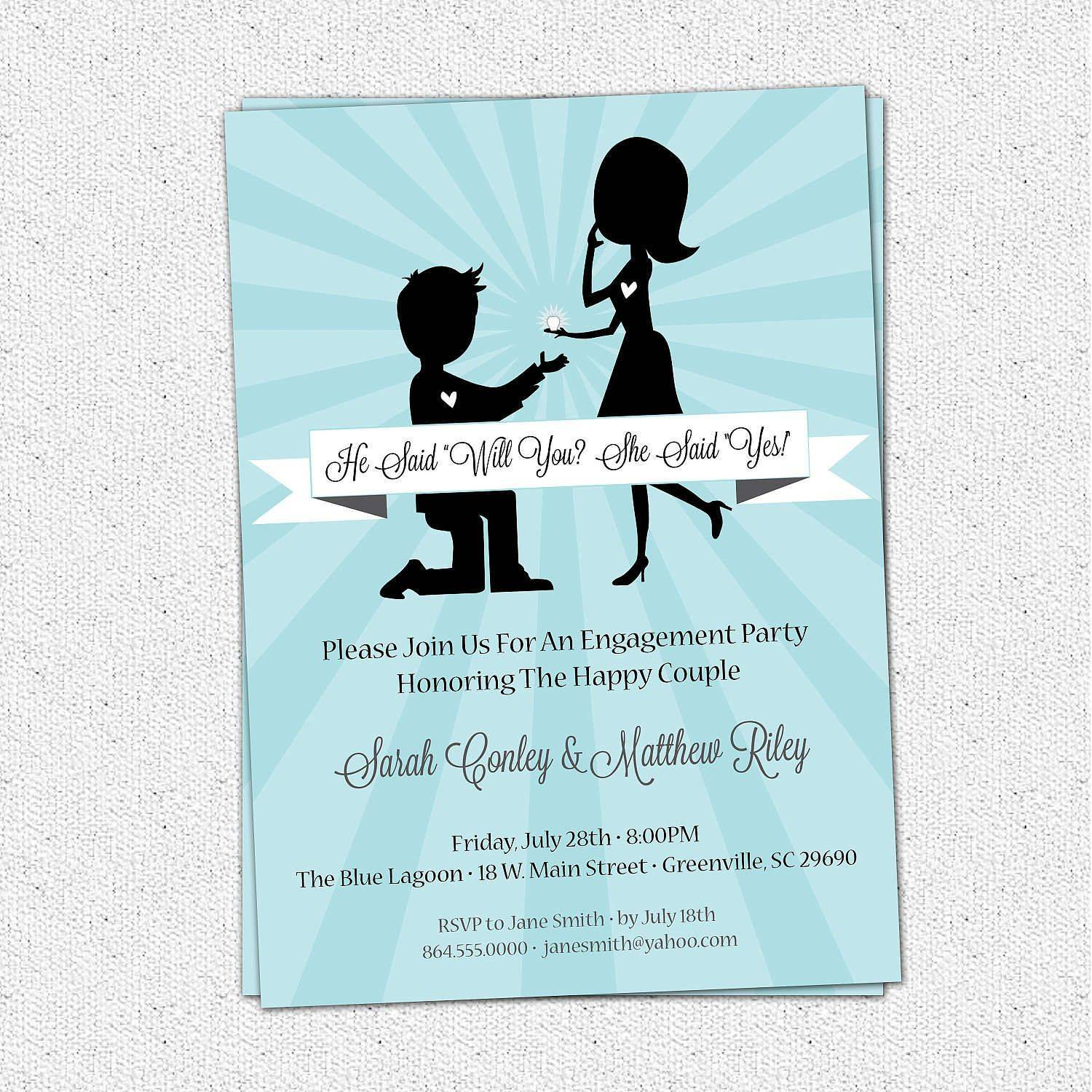 Wedding Engagement Invitation Templates