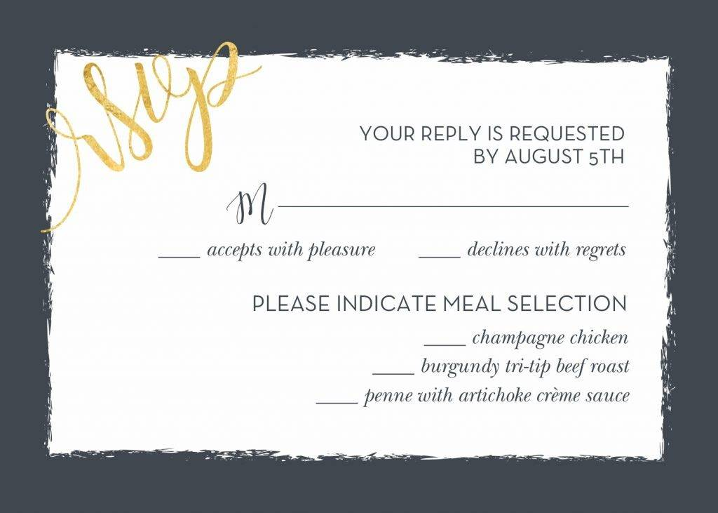 Wedding Invitation Rsvp Wording Templates