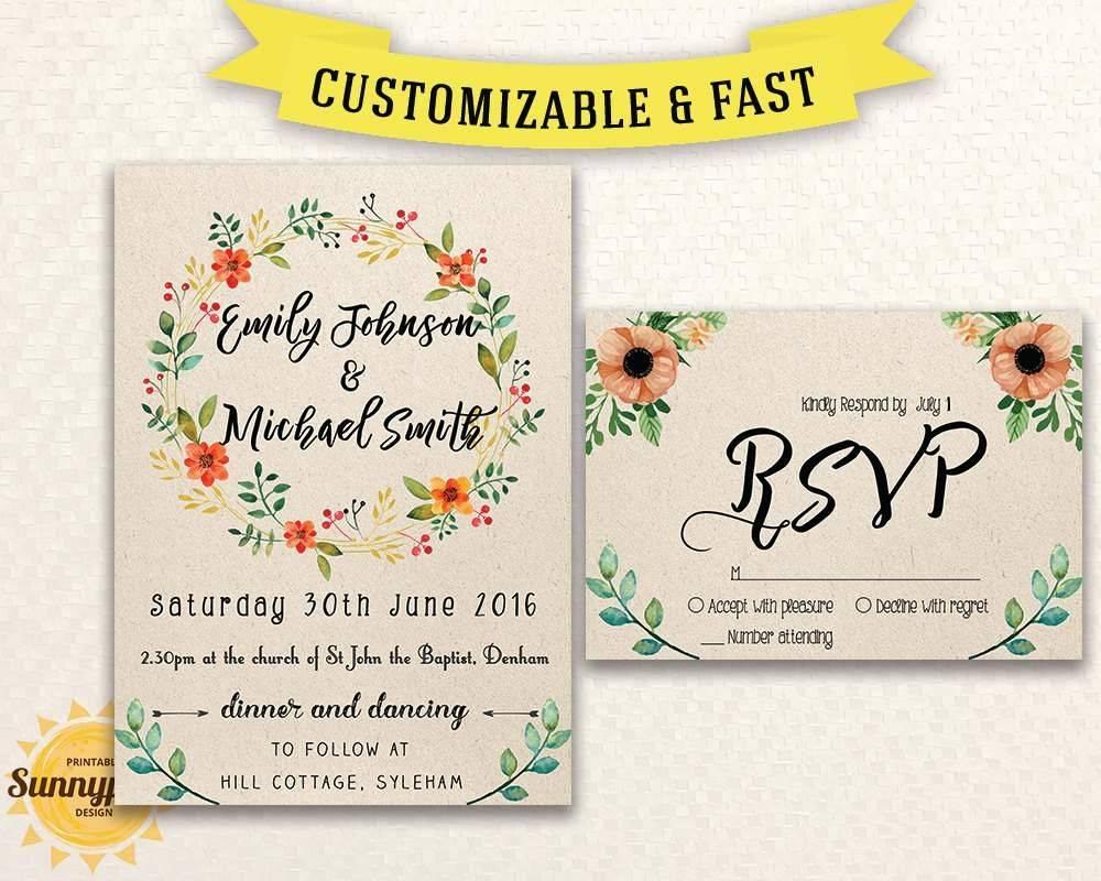 Wedding Invitation Templates Australia