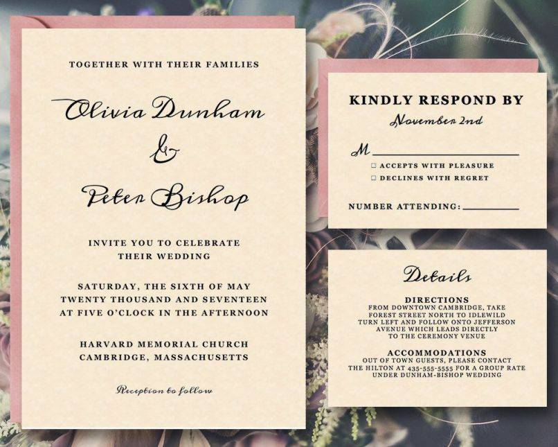 Wedding Invitation Templates For Mac Pages