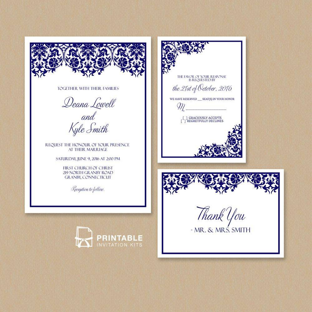 Wedding Invitation Templates Pdf
