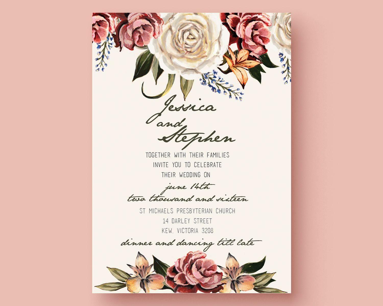Wedding Invites Templates Illustrator Format