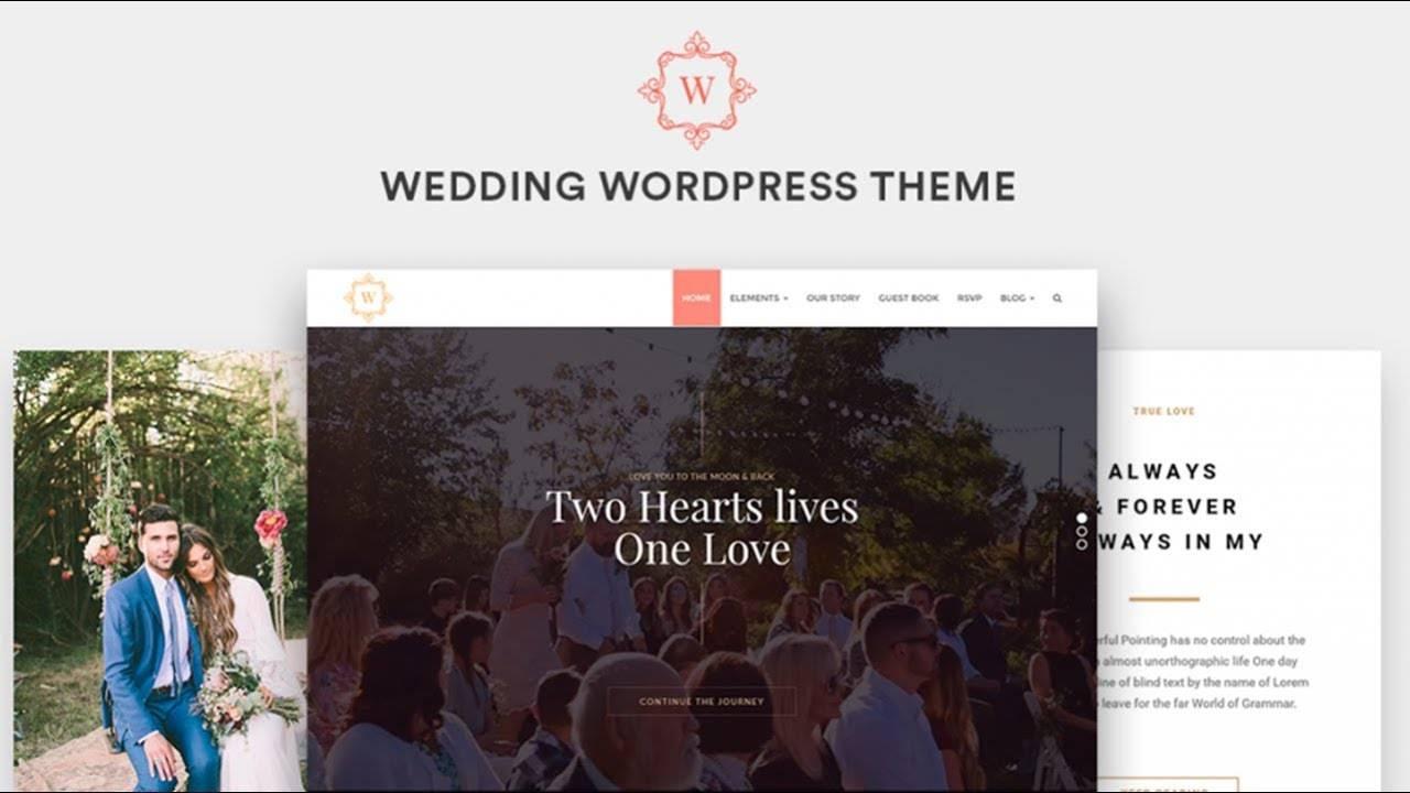 Wedding Page Template WordPress