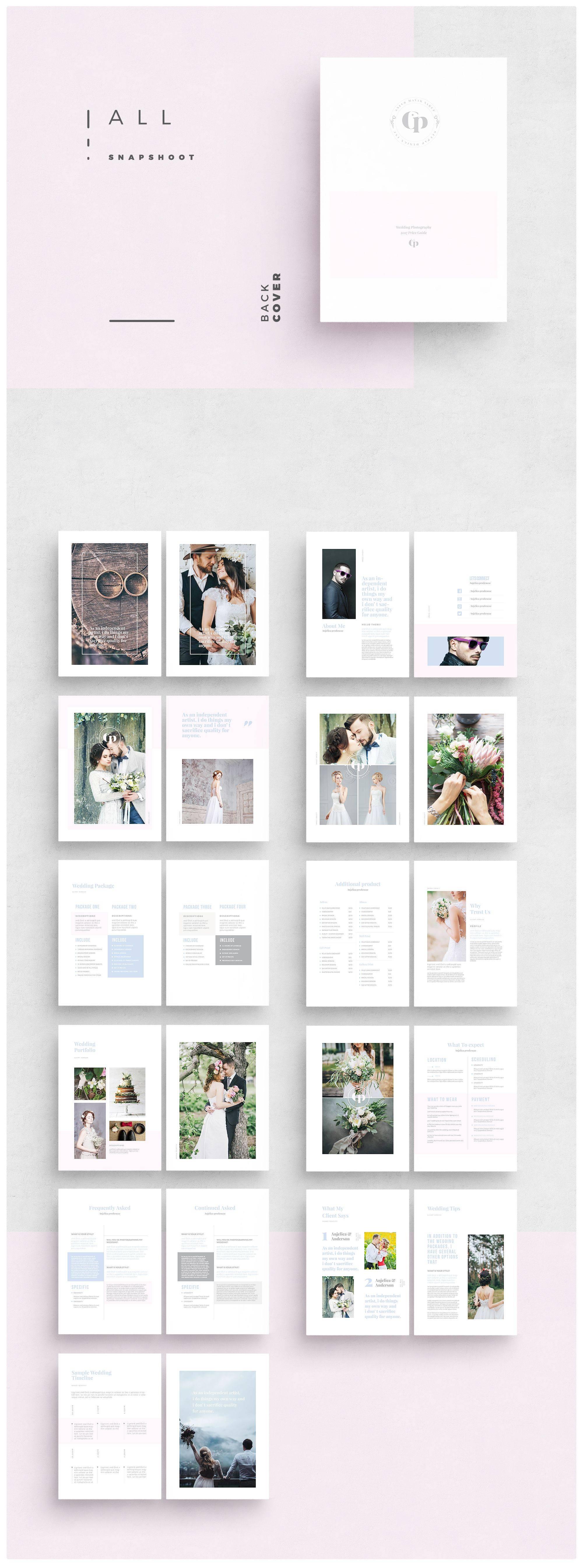 Wedding Photography Marketing Brochure Templates