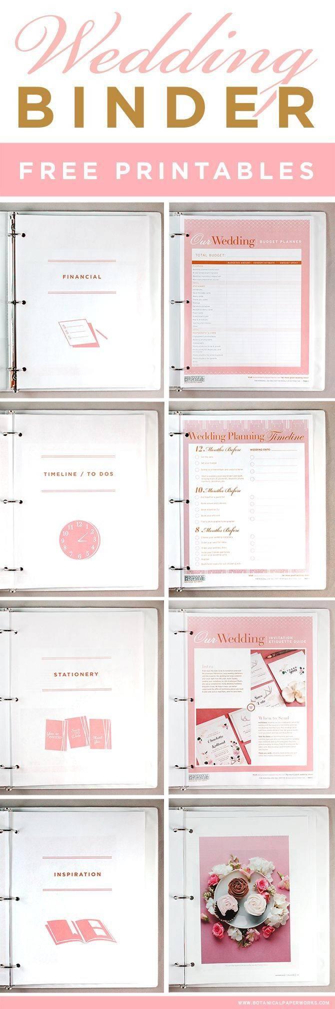 Wedding Planner Binder Cover Template