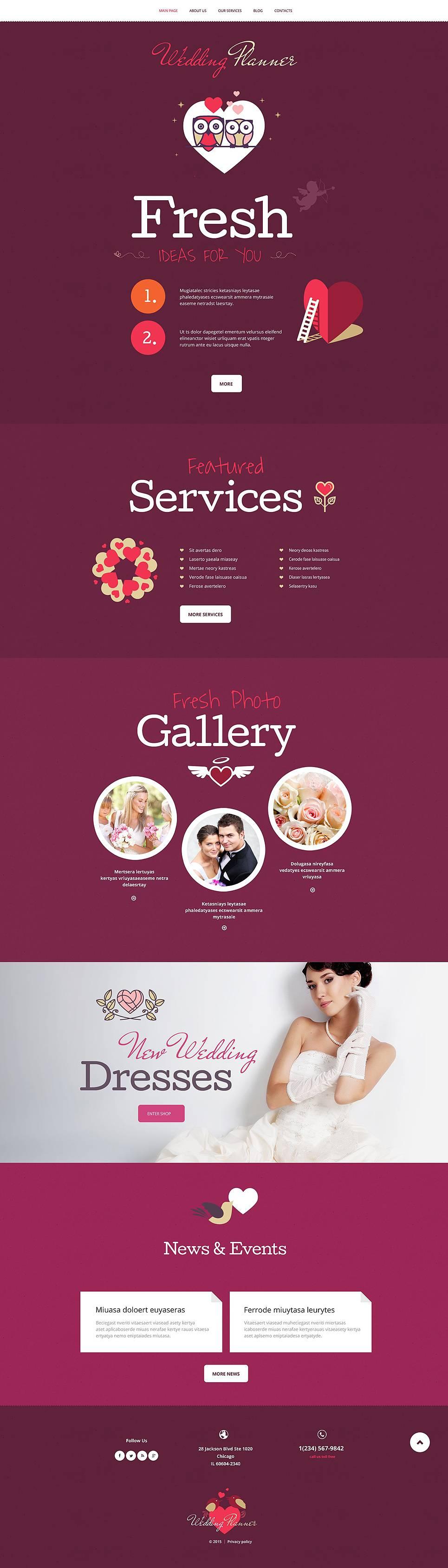 Wedding Planner Template WordPress