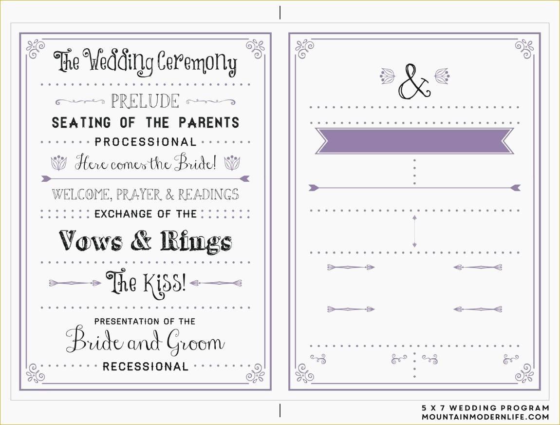 Wedding Program Template Free Microsoft Word