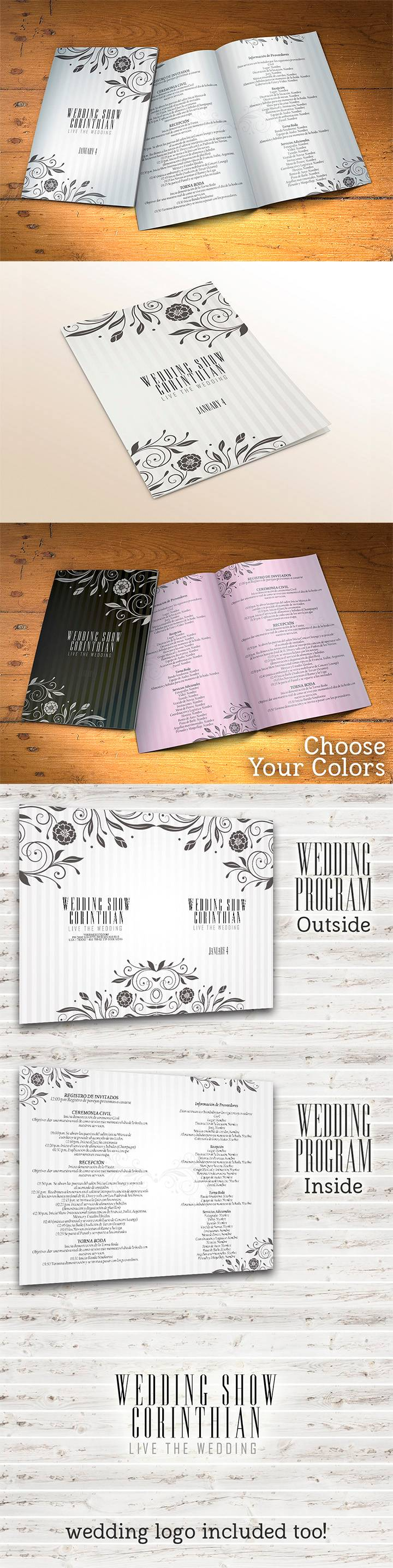 Wedding Program Template Psd