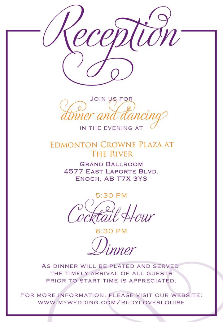 Wedding Reception Program Template Pdf