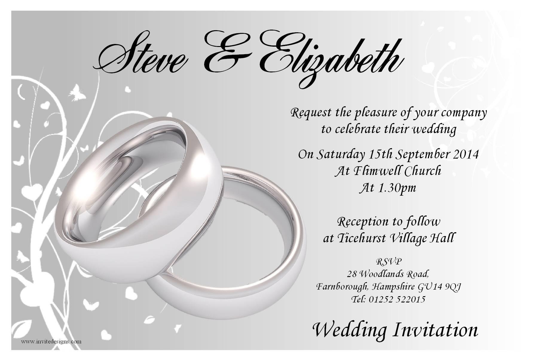 Wedding Reception Templates Free Download