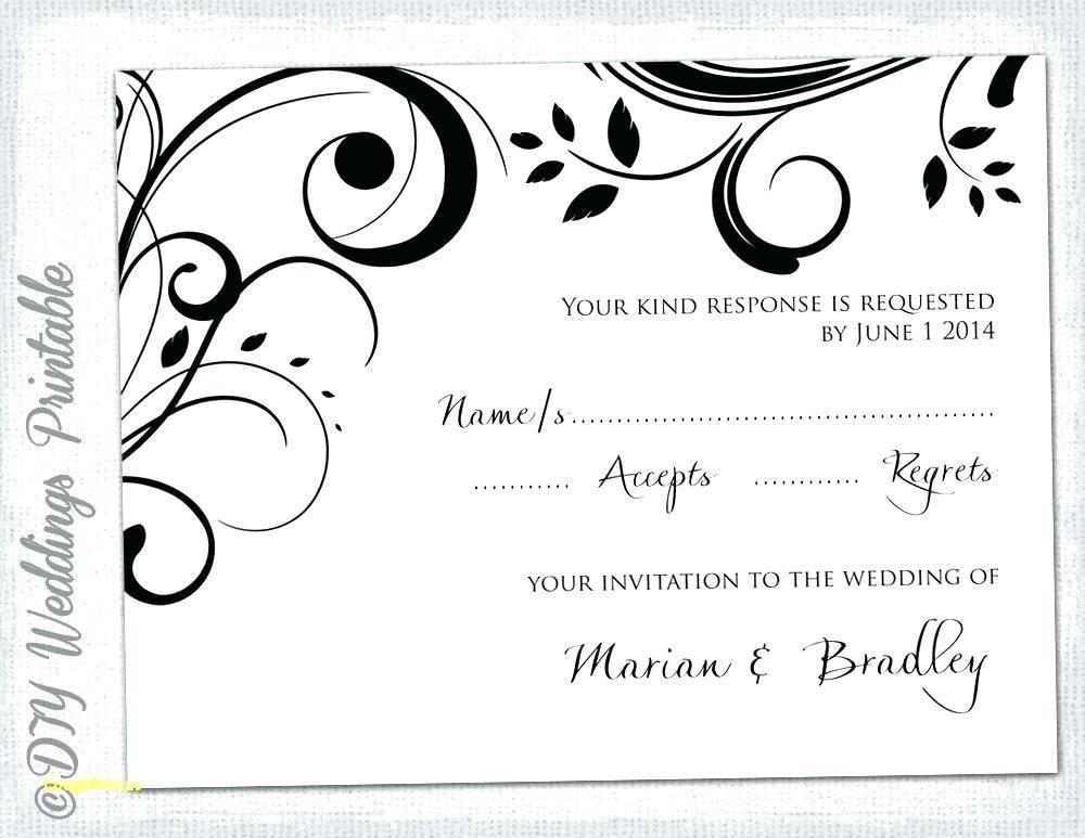 Wedding Rsvp Template Google Docs