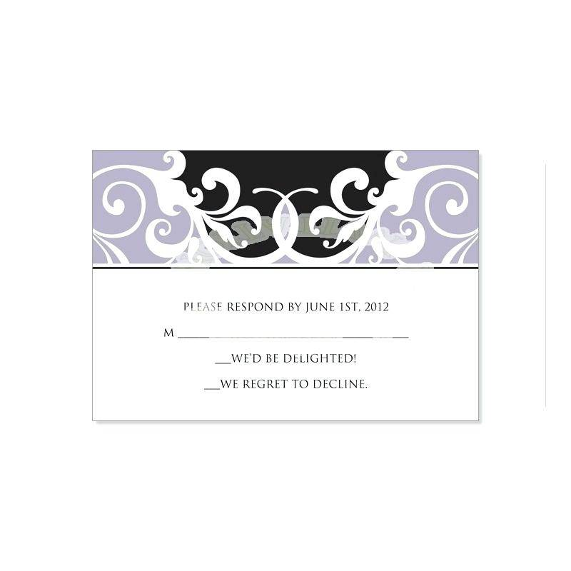 Wedding Rsvp Template With Menu Choice