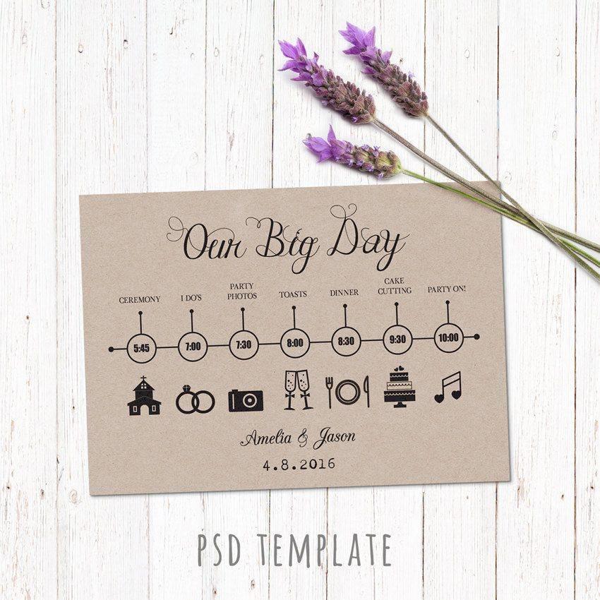 Wedding Schedule Timeline Template