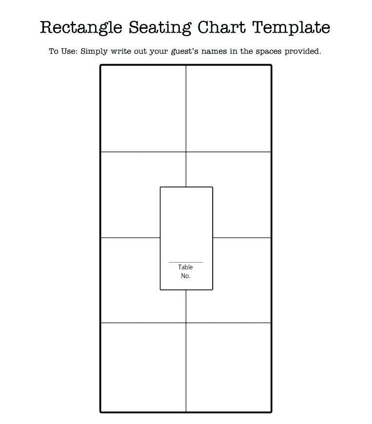 Wedding Seating Chart Template Illustrator