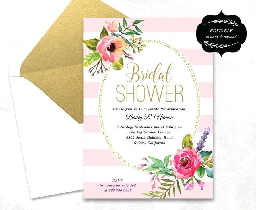 Wedding Shower Announcement Templates