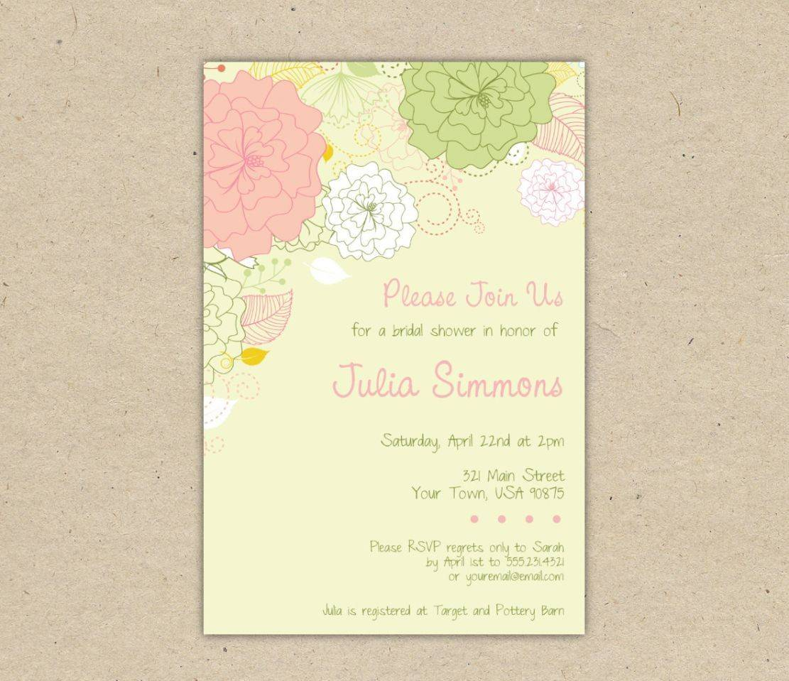 Wedding Shower Invitation Templates For Word