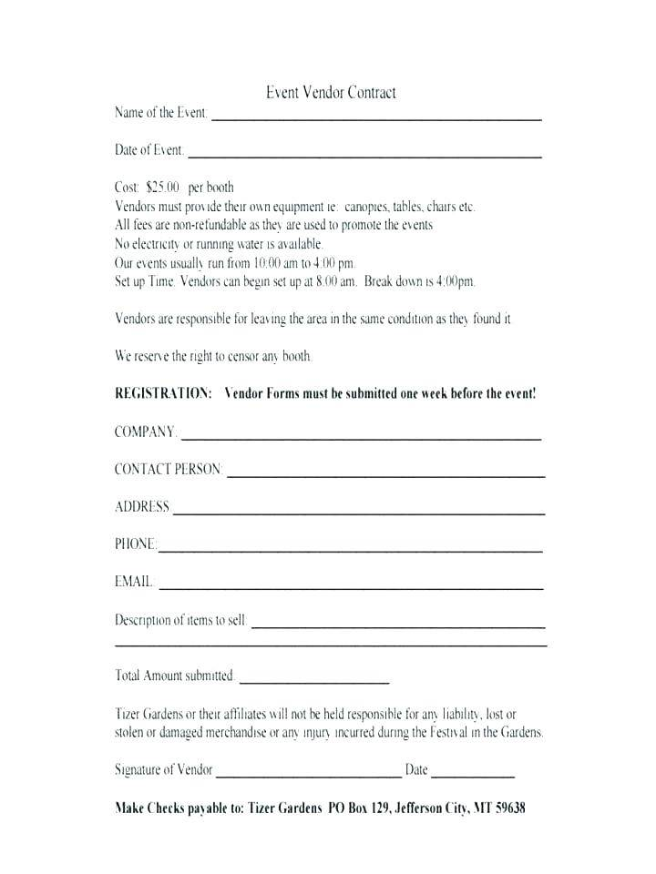 Wedding Supplier Contract Template