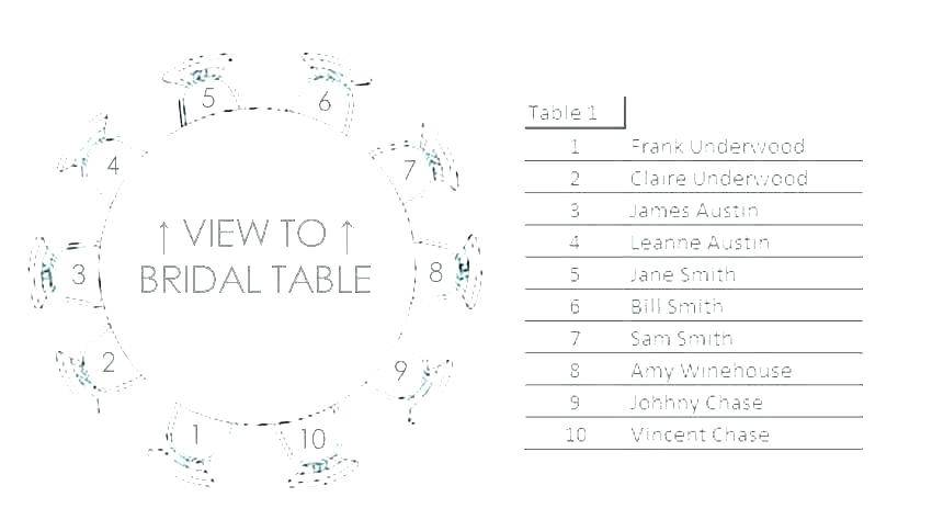 Wedding Table Seating Plan Template Download