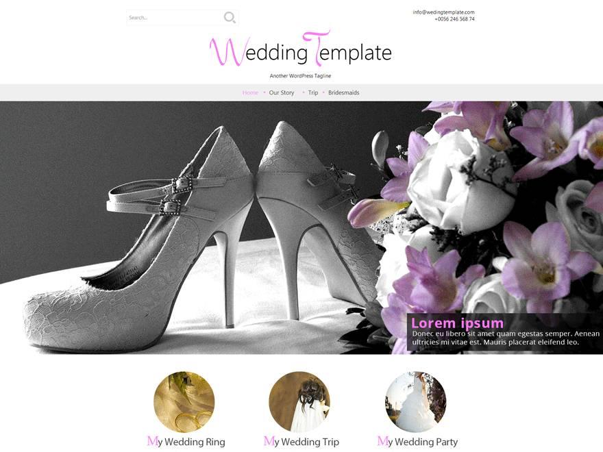 Wedding Theme WordPress Free Download