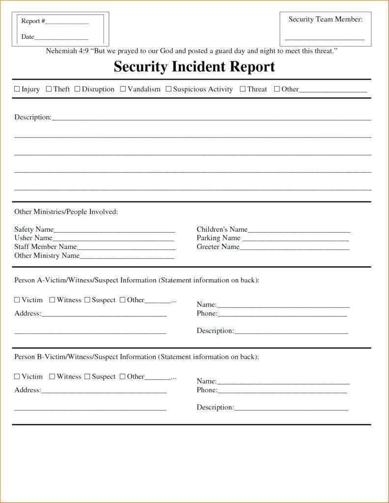Weekly Activity Report Template Pdf
