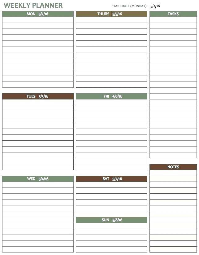 Weekly Budget Planner Template Free