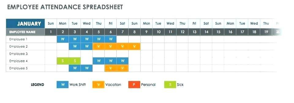 Weekly Employee Attendance Sheet Template