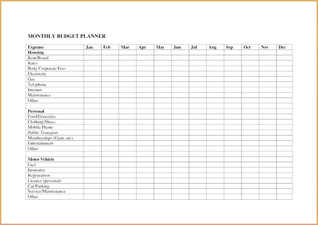 Weekly Household Expenses Template