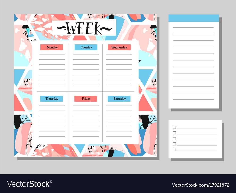 Weekly Planner Template Cute