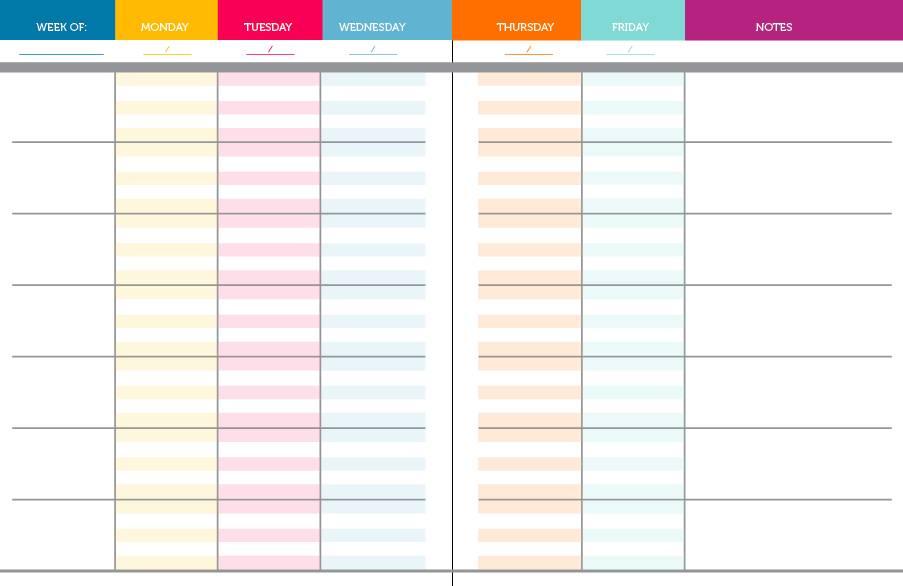 Weekly Teacher Planner Template